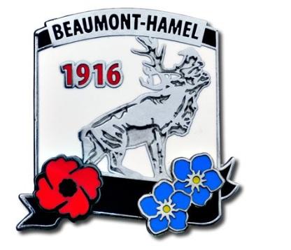 Beaumont-Hamel 1916 Lapel Pin