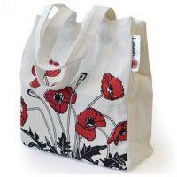Small Poppy Shopping Tote Bag