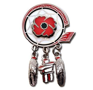 First Nations Veterans Lapel Pin