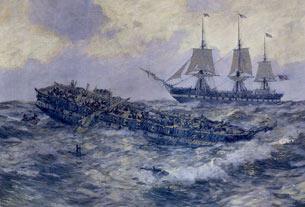 Affrontement entre la frégate américaine Constitution et le HMS Guerriere