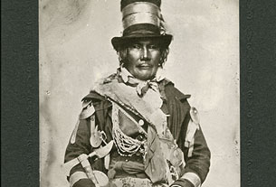 Le chef Oshawana, vers 1858