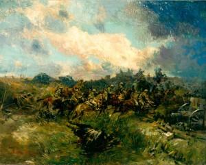 Cavalerie et chars d'assaut à Arras, 1918