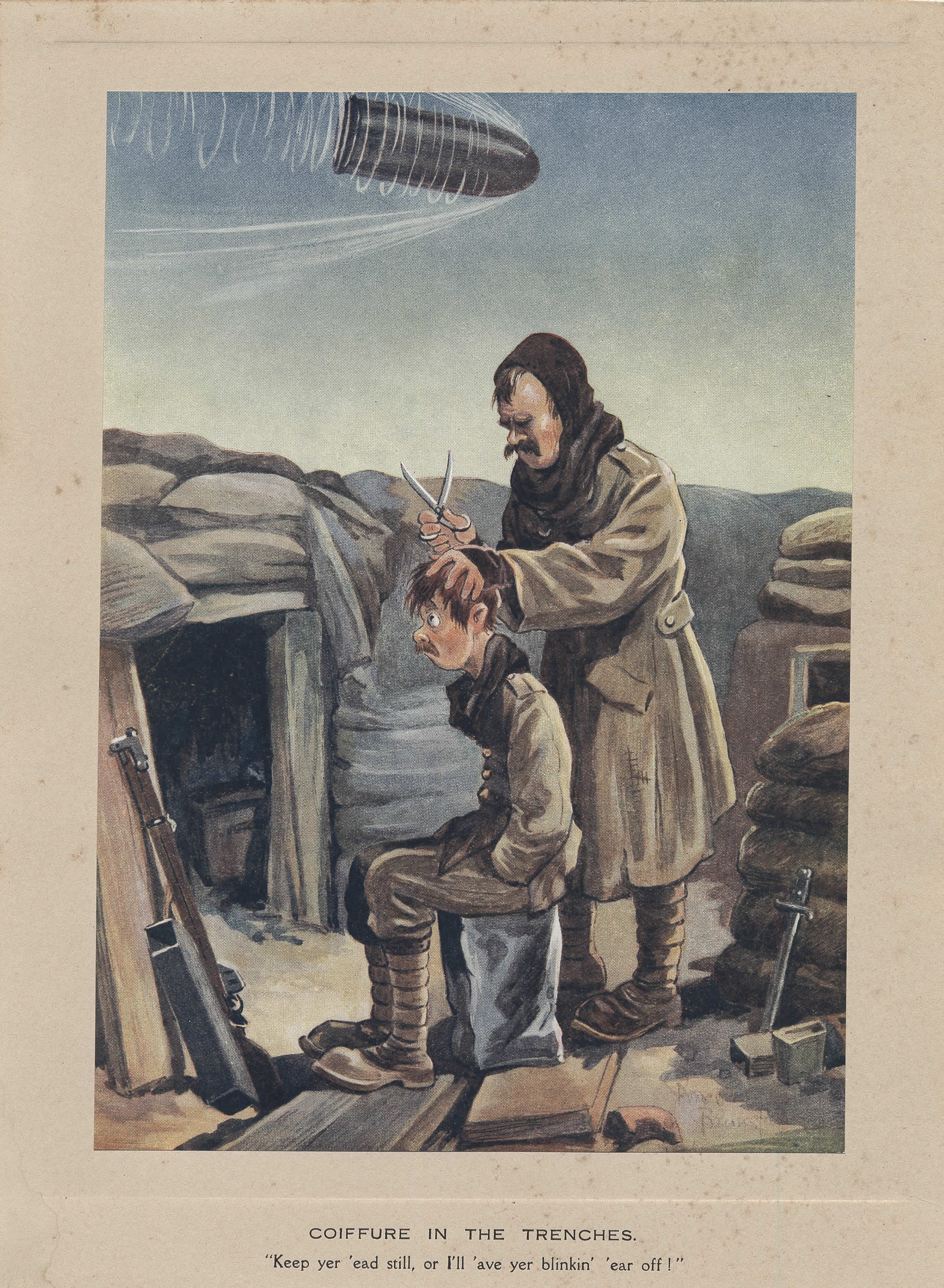 Coiffure in the Trenches (Coupe de cheveux dans les tranchées)