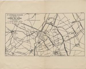 La 1re division canadienne lors de la prise du canal du Nord