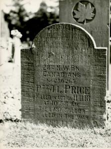 Le dernier soldat tué au cours de la guerre