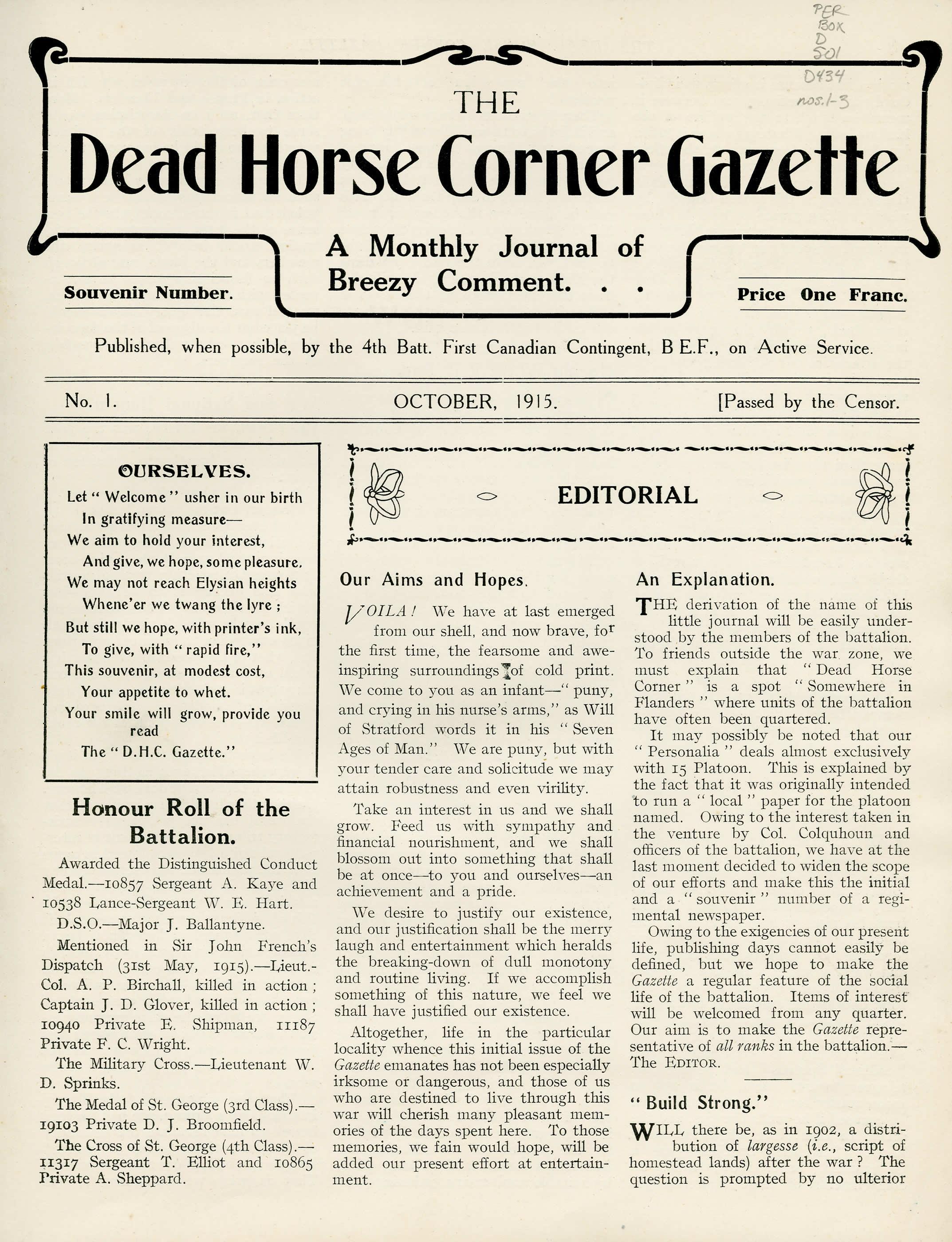 The Dead Horse Corner Gazette