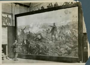 La création d'une oeuvre d'art militaire
