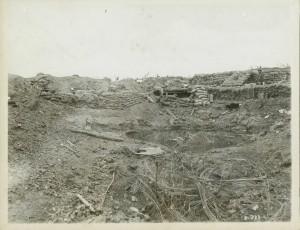 Cratère de mine allemand