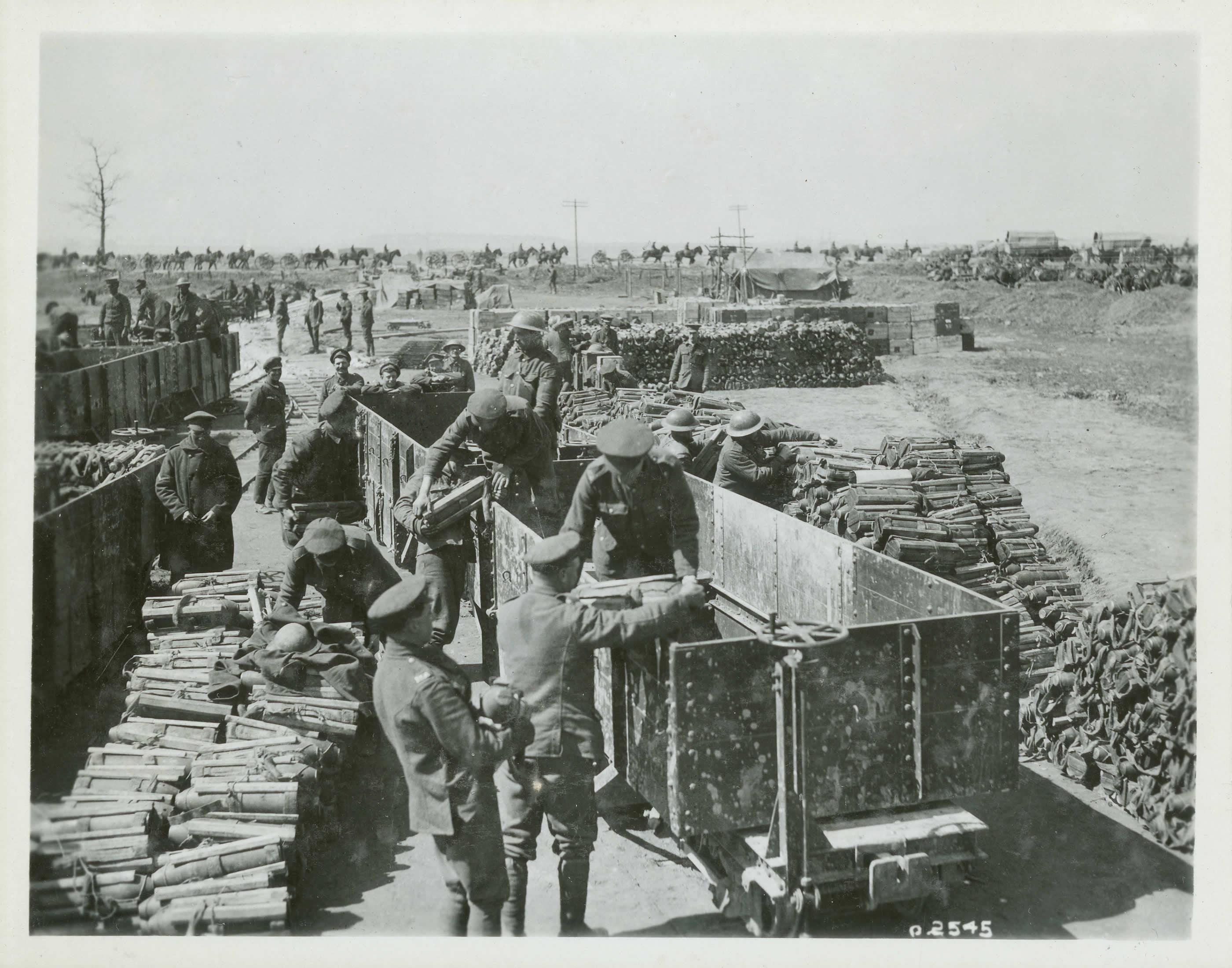 Point de chargement des munitions