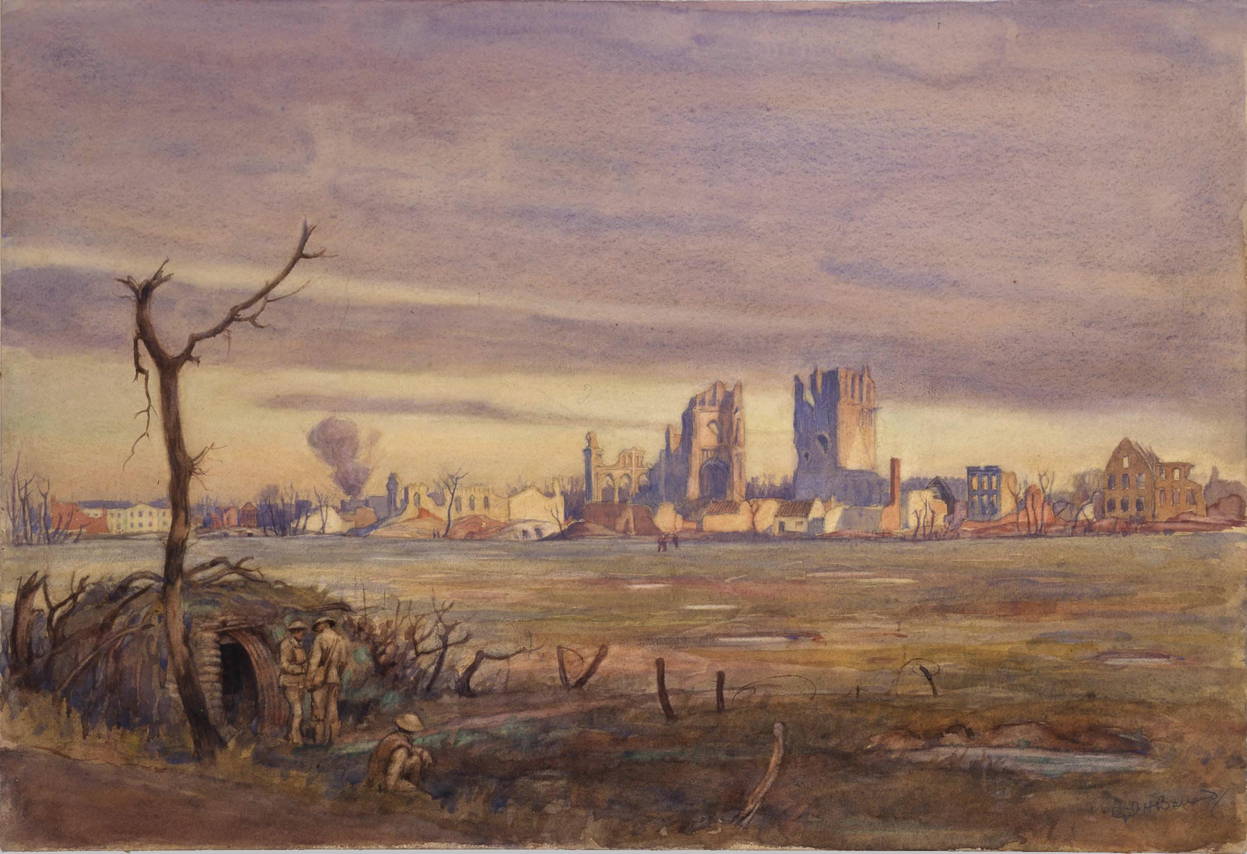 <i>Premier coup d'oeil sur Ypres</i>