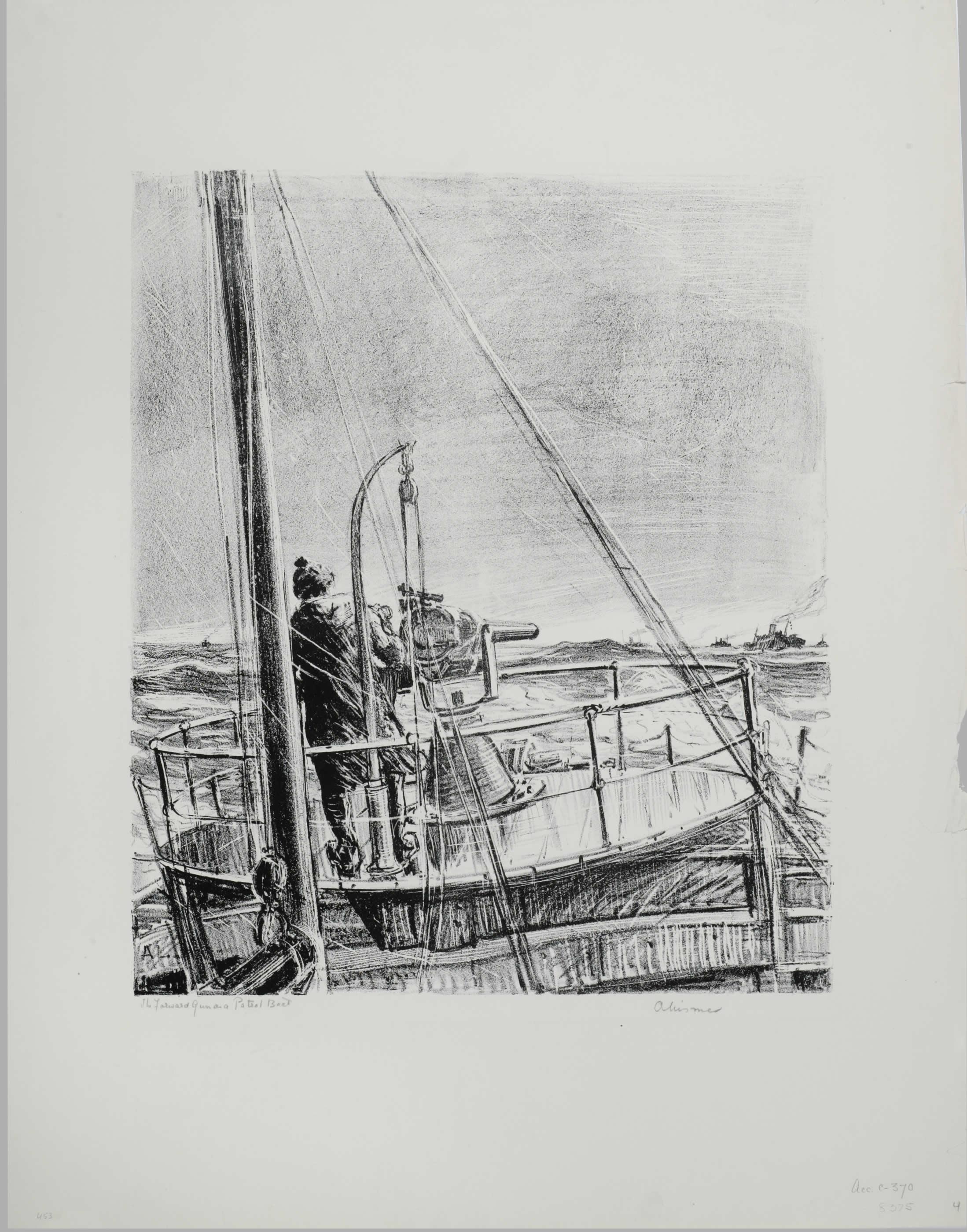 <i>Canon d'avant sur un bateau patrouilleur</i>