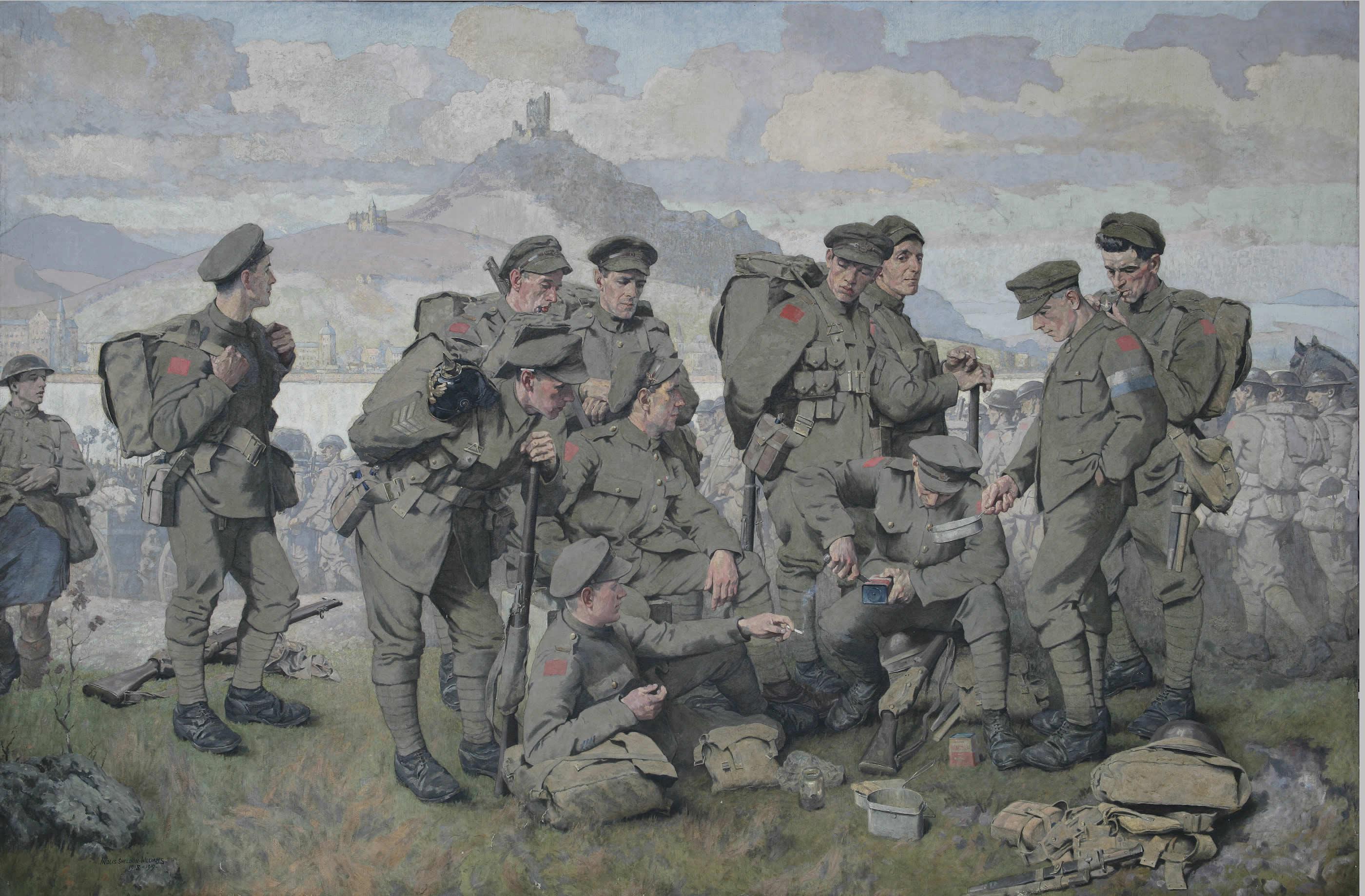 <i>Canadiens arrivant sur le Rhin</i>