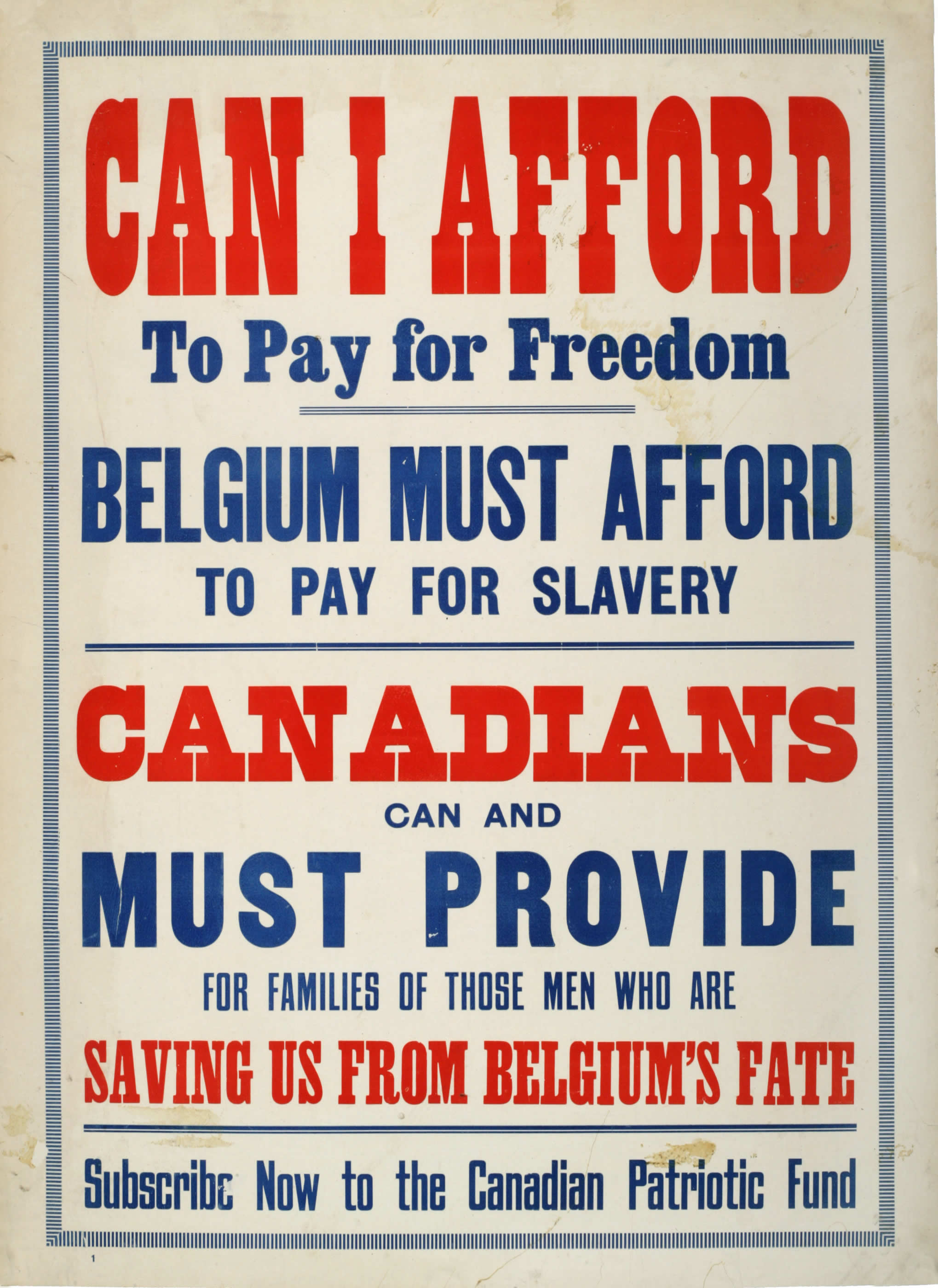 <i>Canadians Must Provide (Les Canadiens doivent contribuer)</i>
