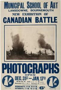 Photographies canadiennes des combats