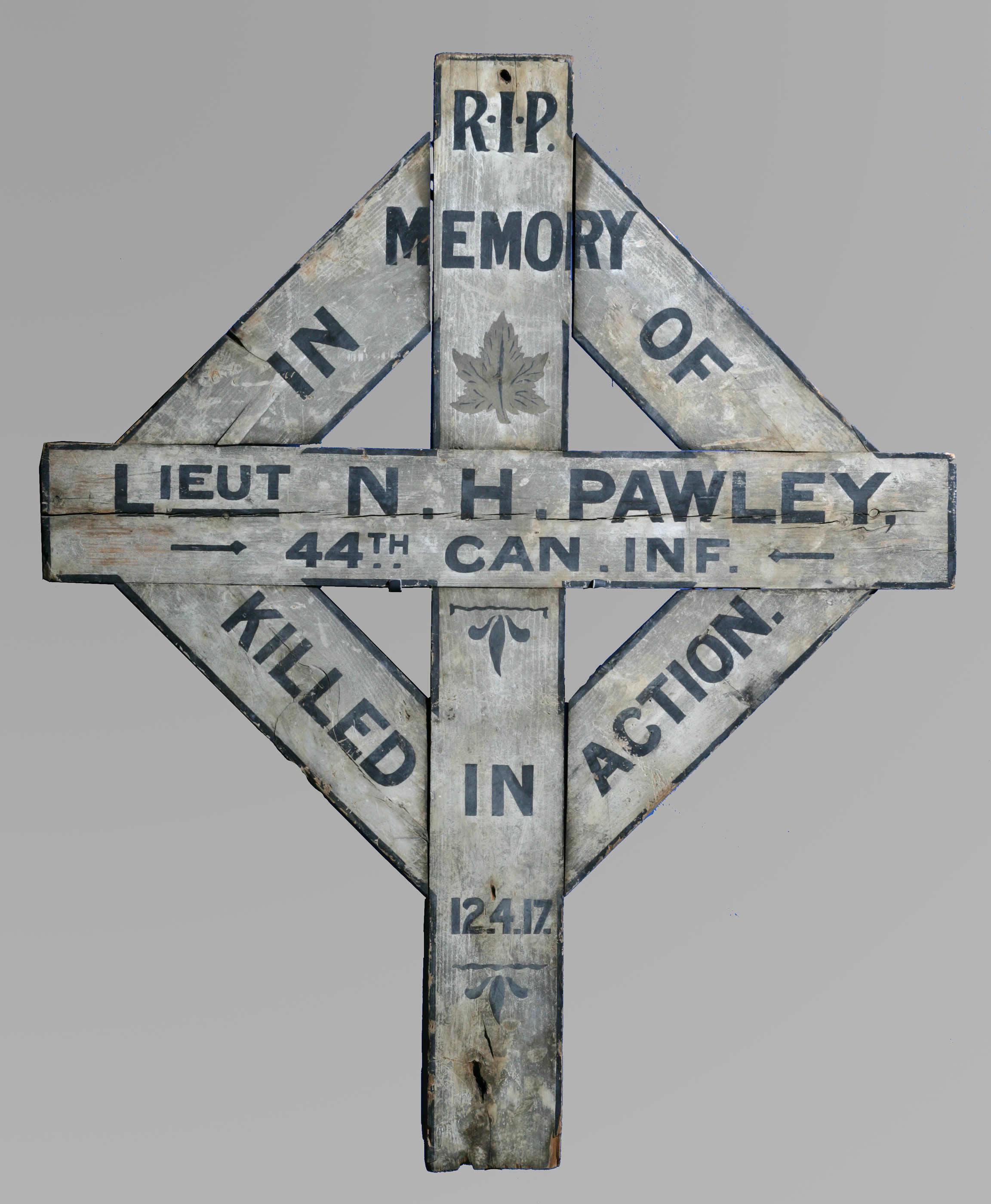 Stèle funéraire de Howard Pawley