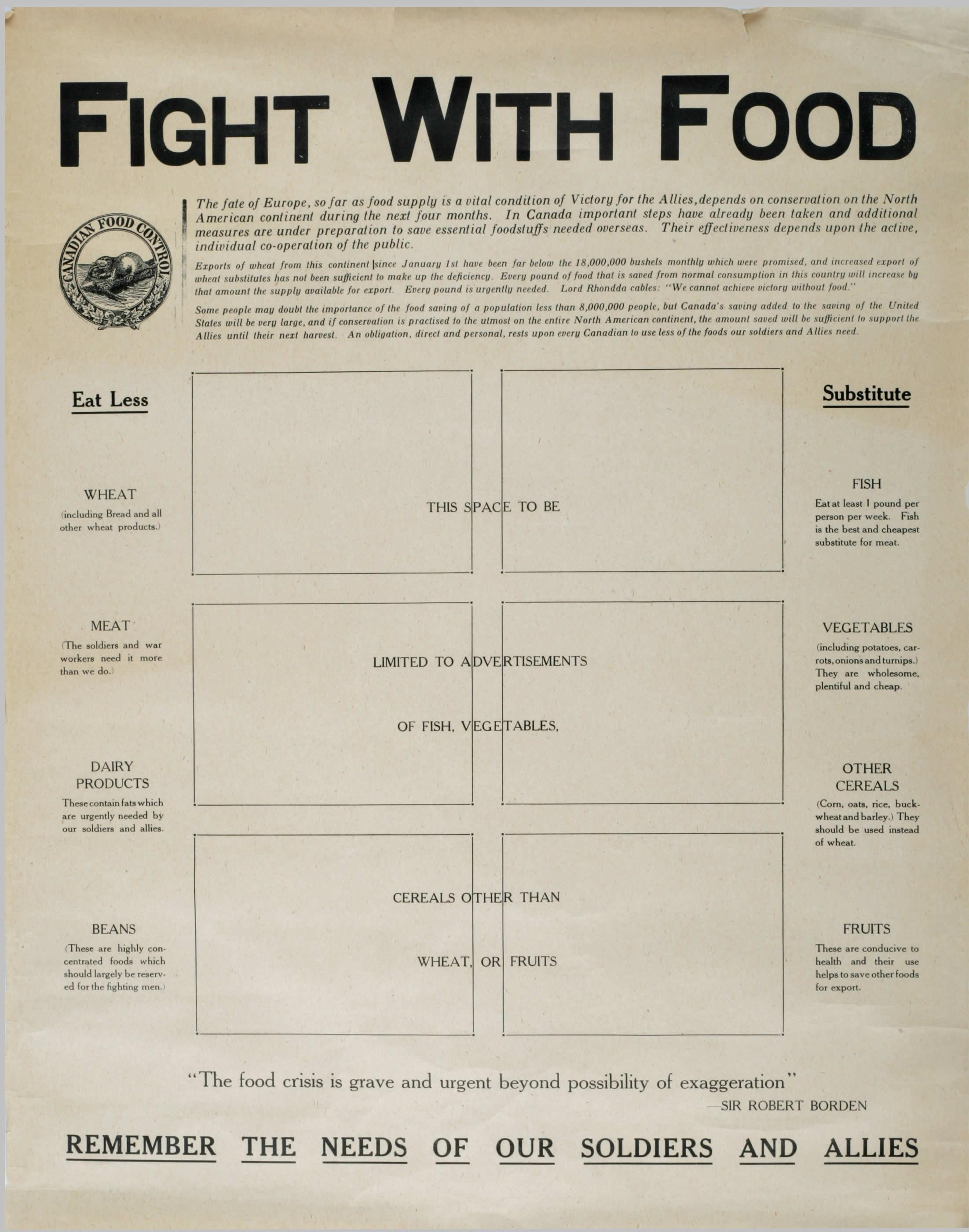 <i>Fight with Food (Combattez avec des aliments)</i>