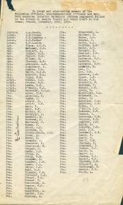 Tués au combat dans la Somme