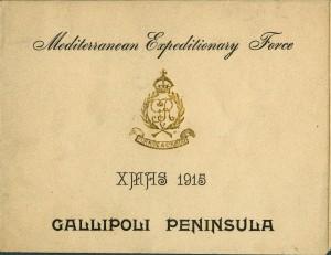 Carte de Noël, Gallipoli