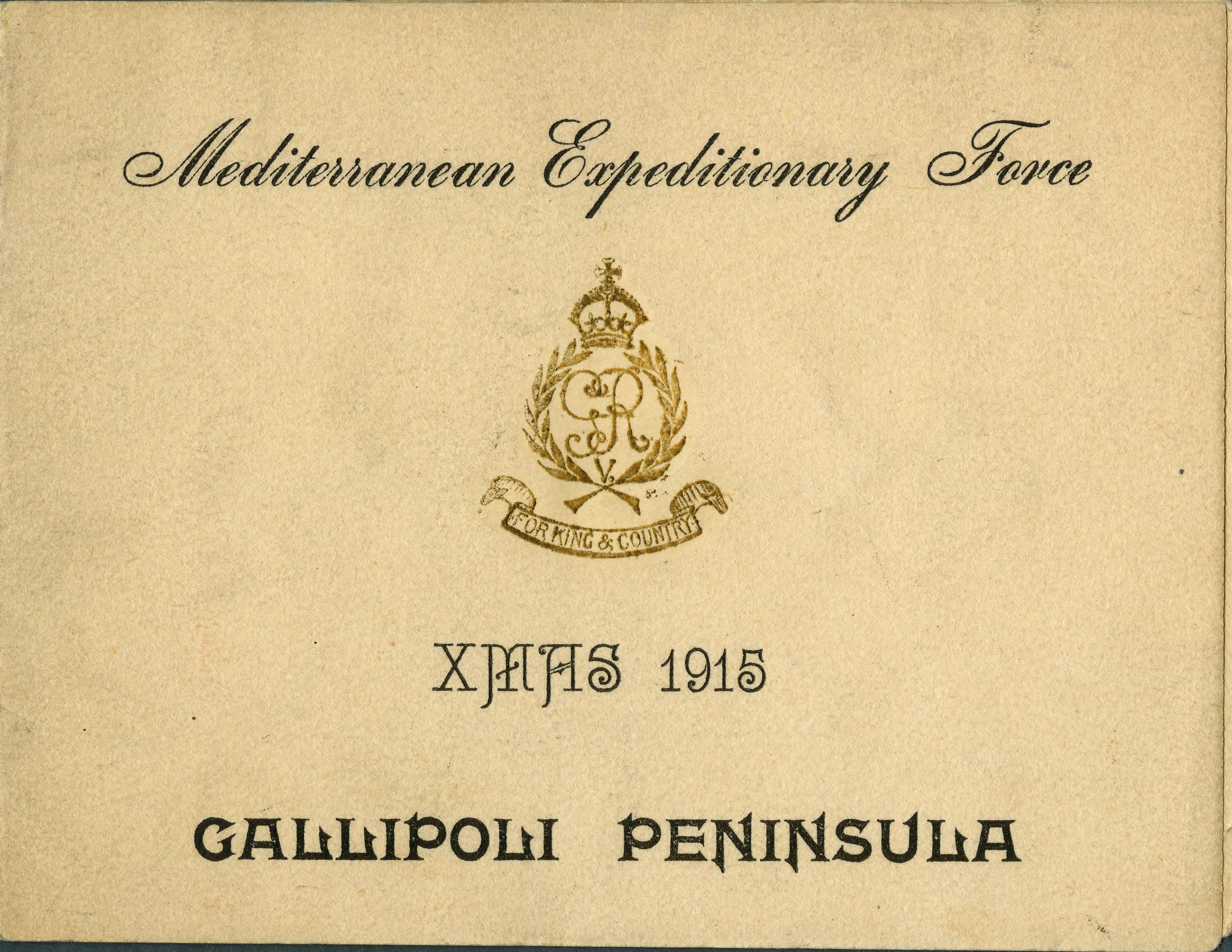 Carte de Noël, Gallipoli