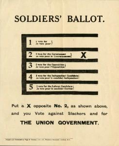 Soldiers' Ballot. (Le vote des soldats.)