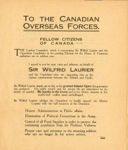 Vote for Laurier (Votez pour Laurier)