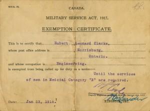 Certificat d'exemption