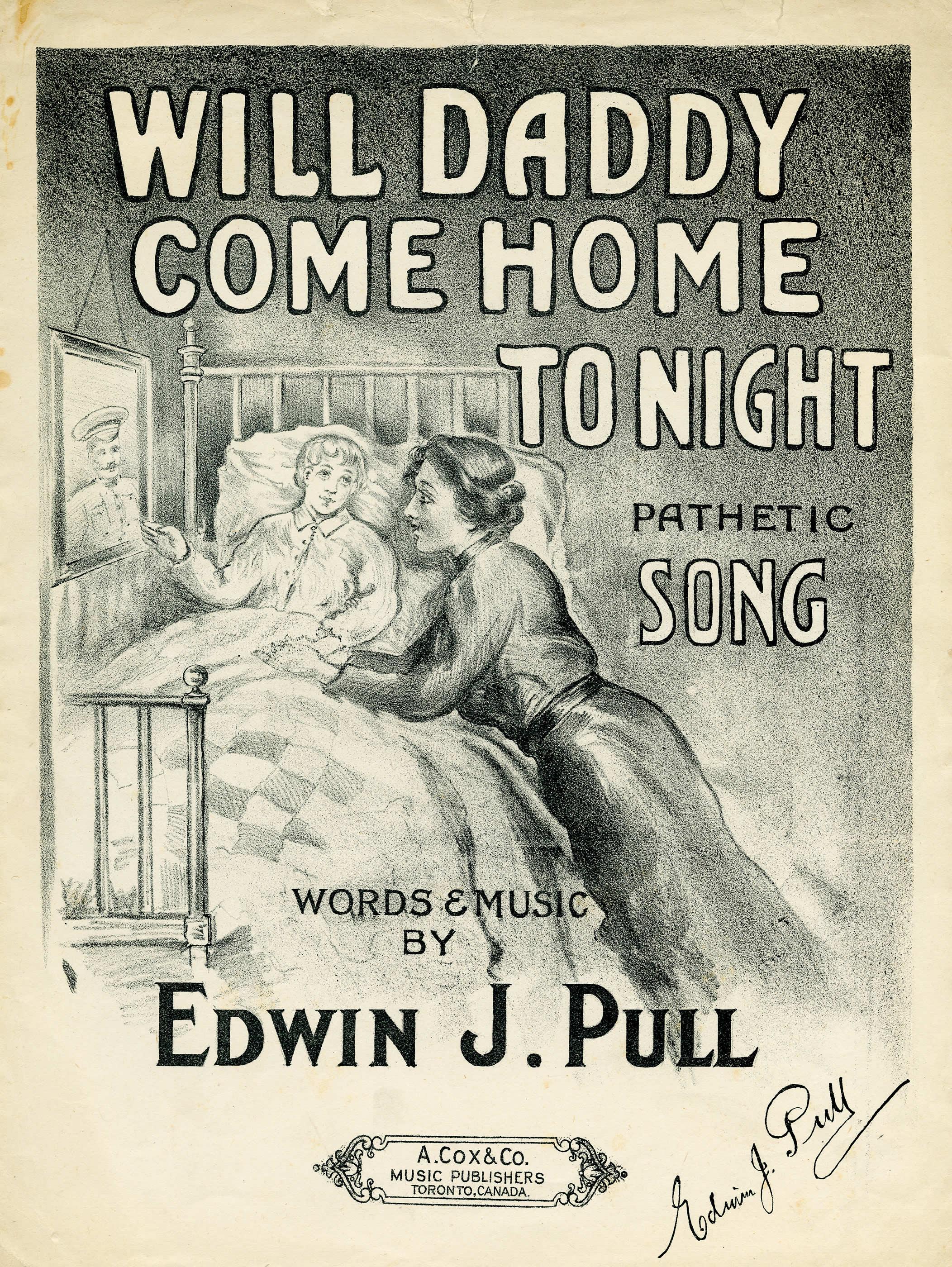 <i>Will Daddy Come Home Tonight? (Est-ce que papa va revenir ce soir?)</i>