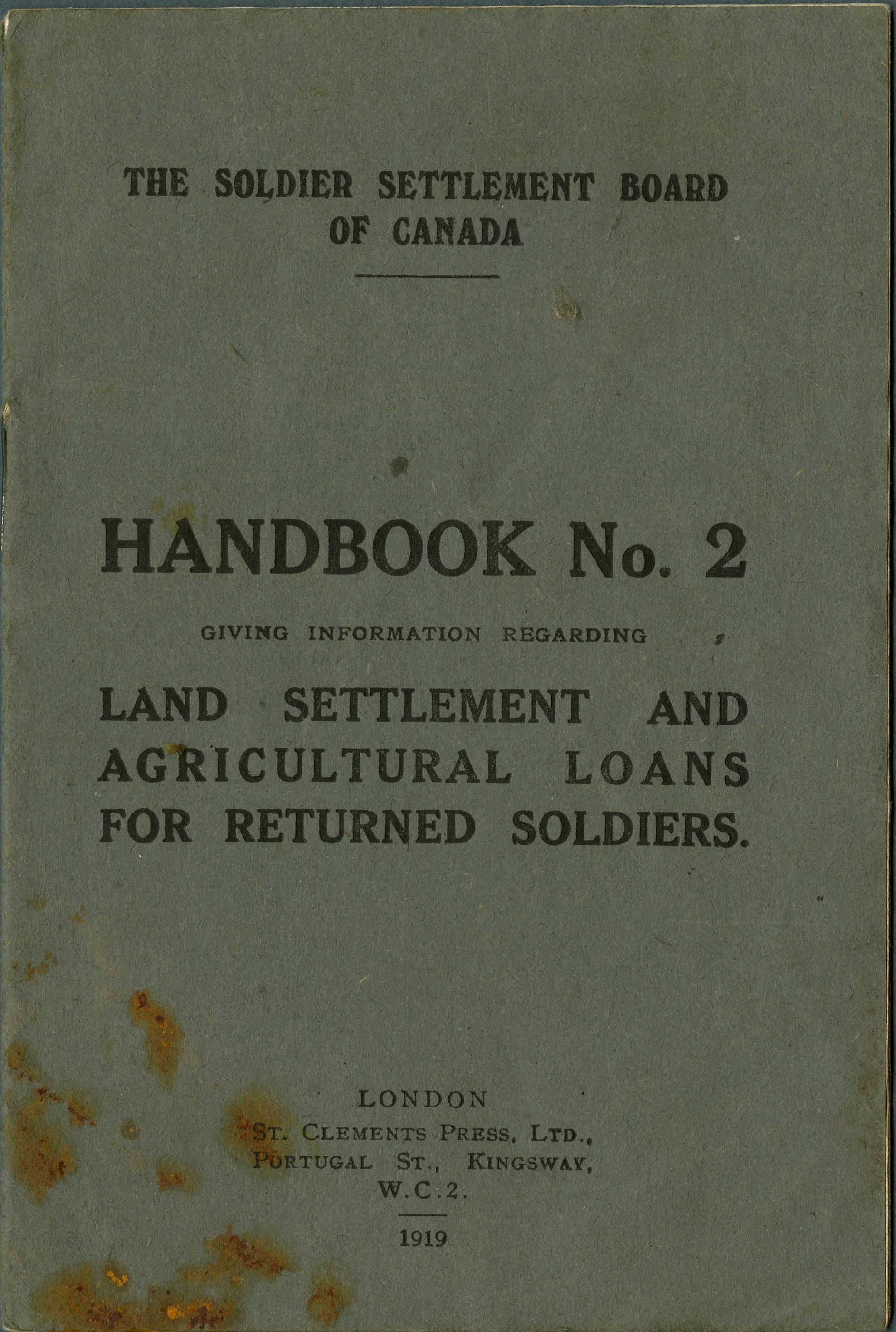 Colonisation rurale et prêts agricoles