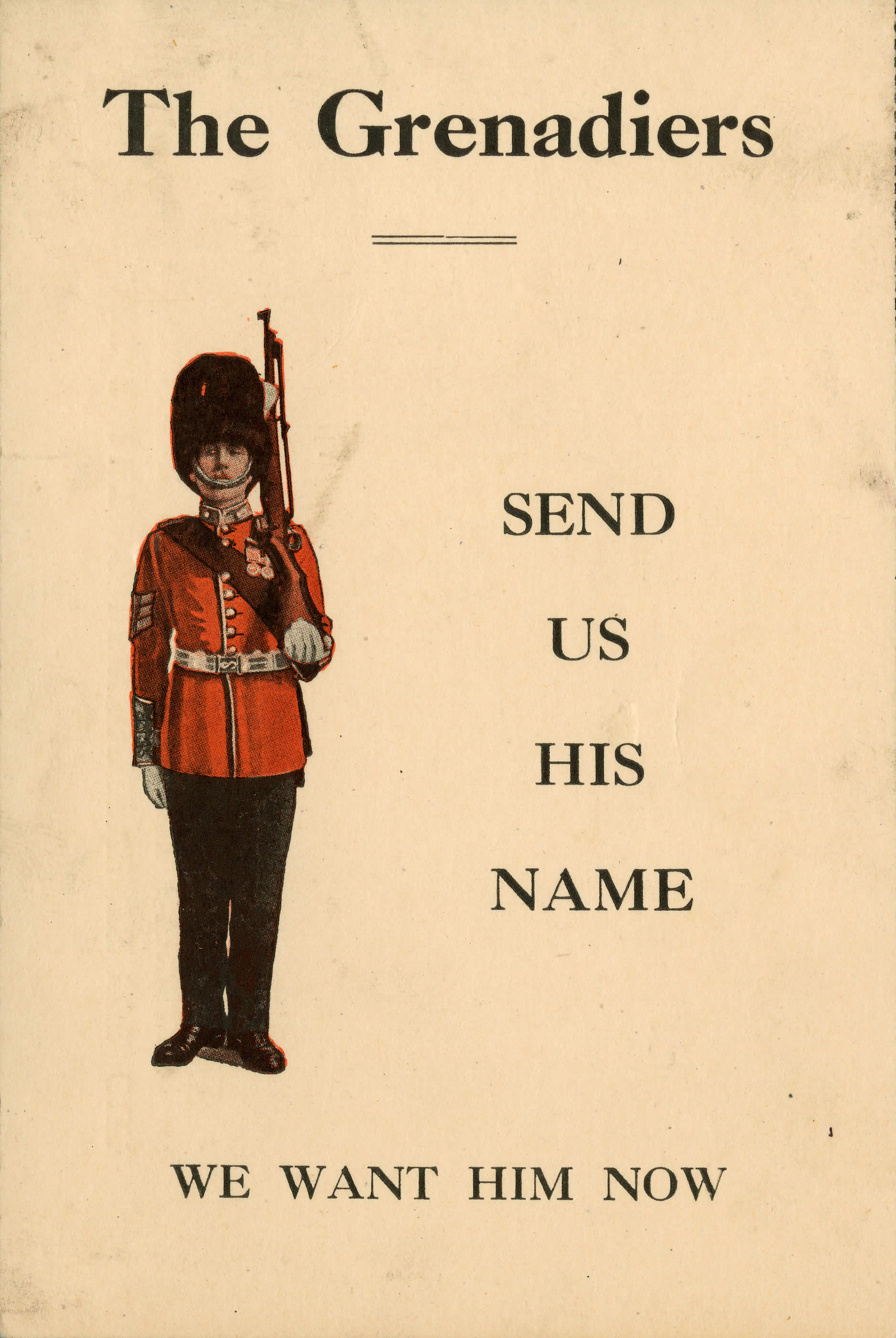 <i>Send Us His Name (Envoyez-nous son nom)</i>