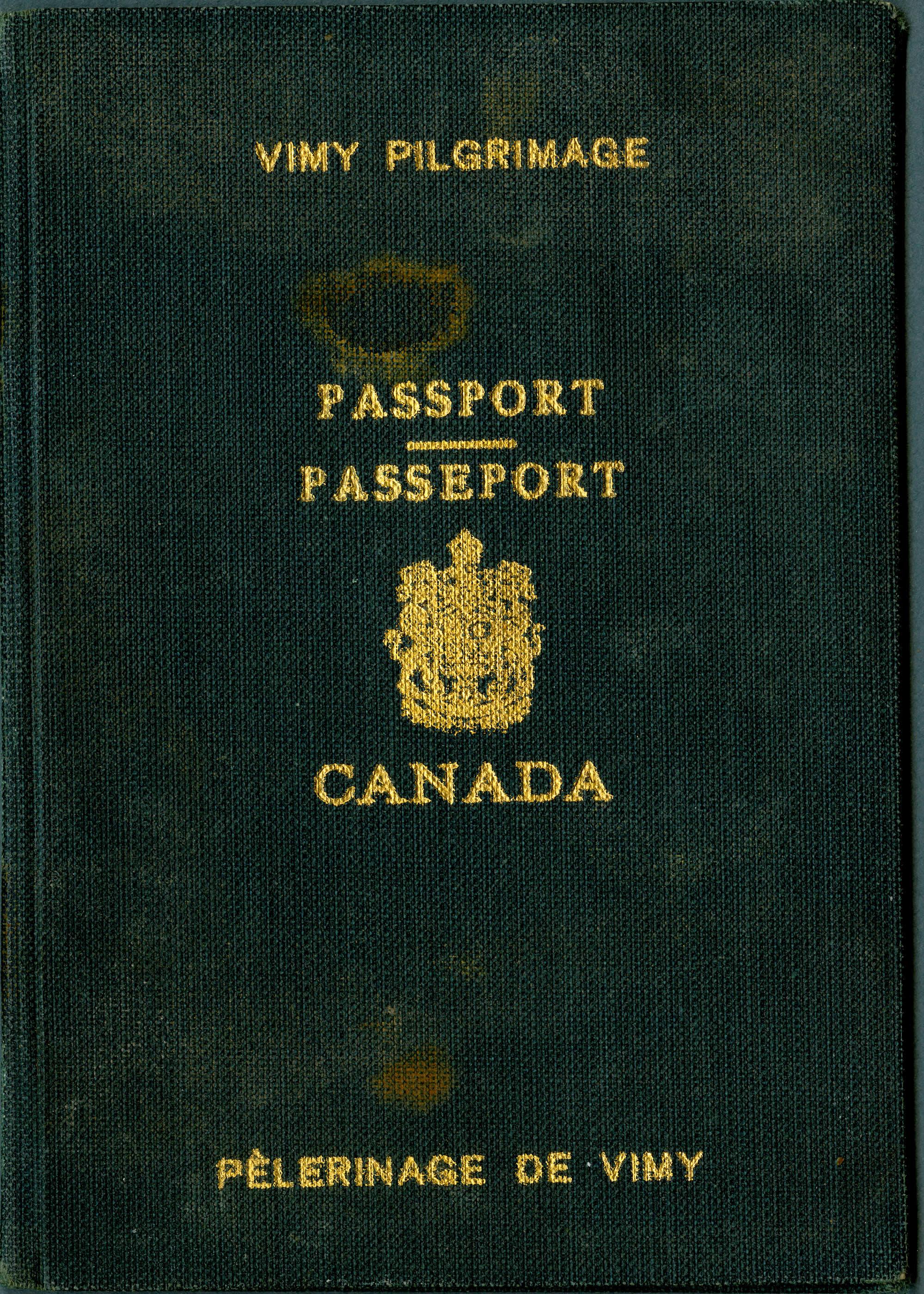 Passeport pour Vimy