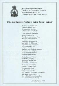 The Unknown Soldier Has Come Home (Le soldat inconnu est rentré chez lui)