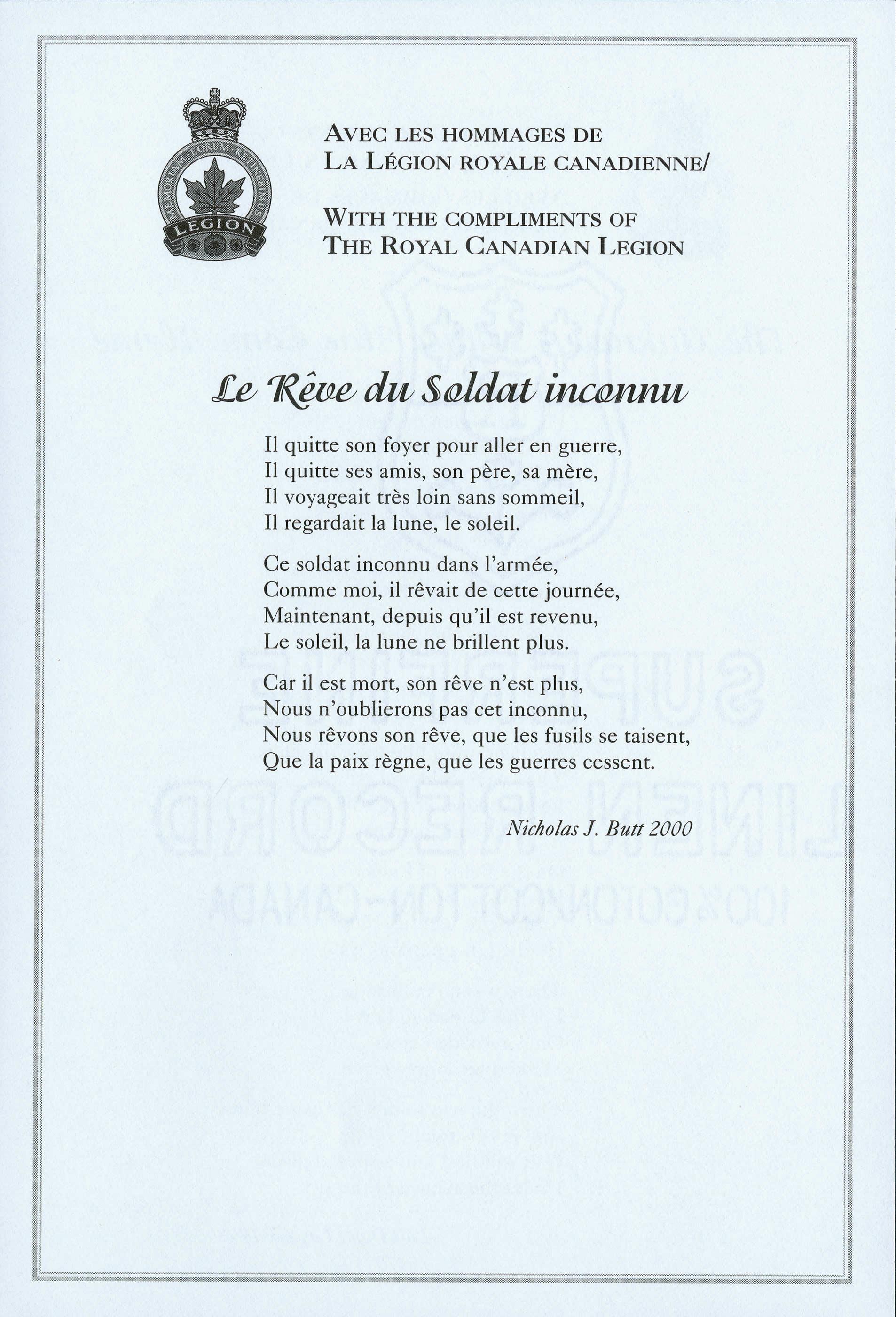 <i>Le Rêve du Soldat inconnu</i>
