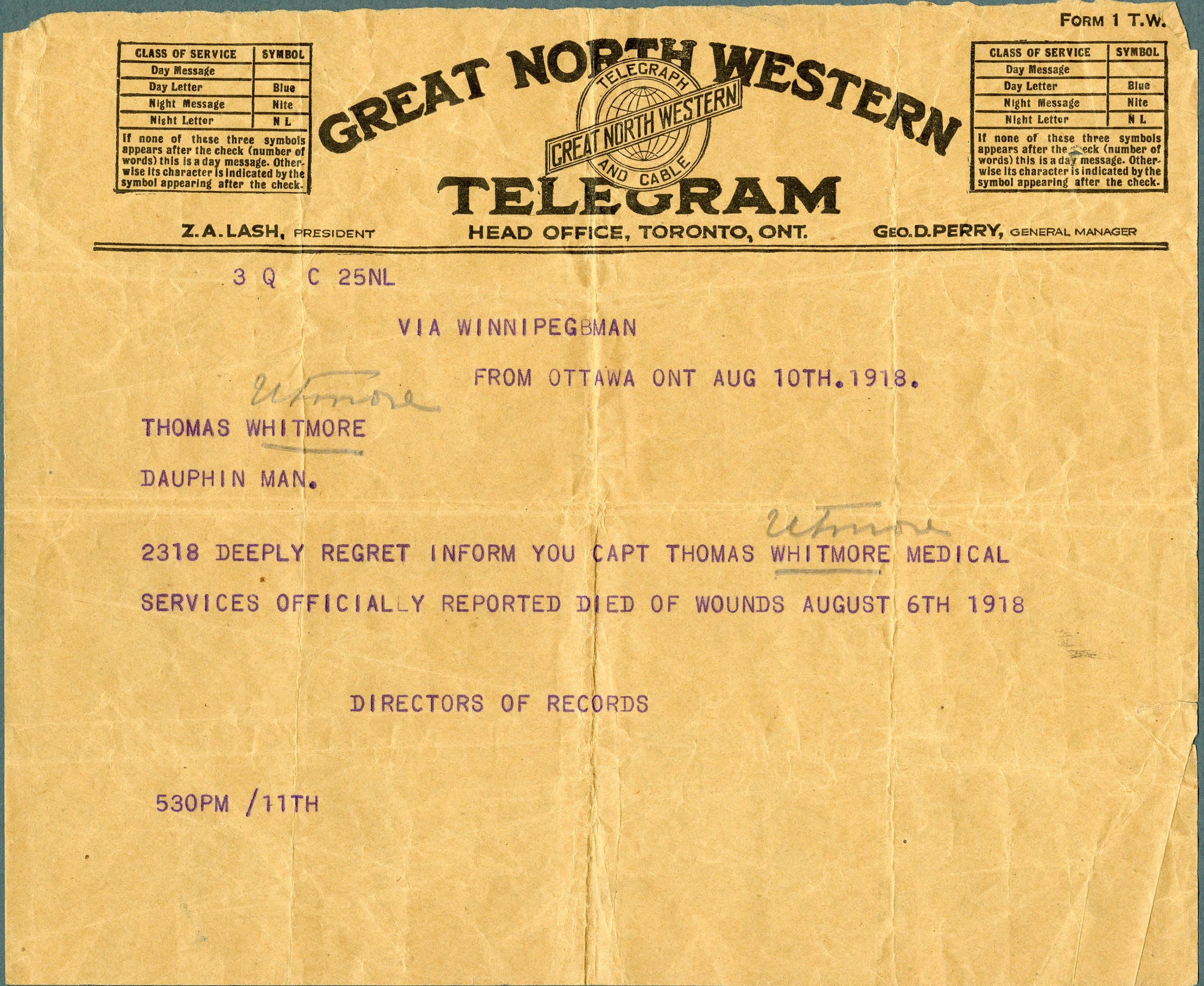 Le télégramme