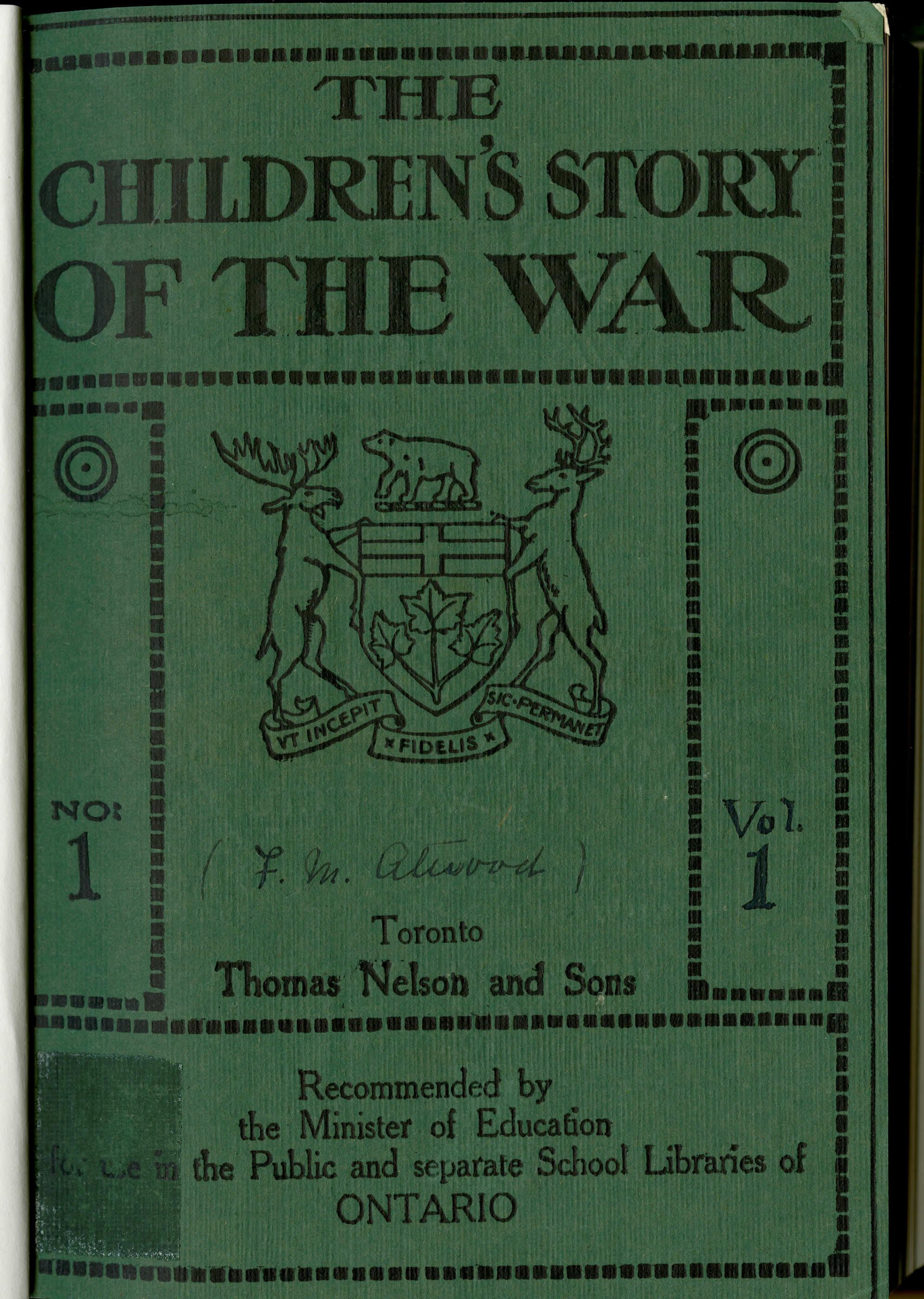 <i>The Children's Story of the War (Une histoire de la guerre pour les enfants)</i>