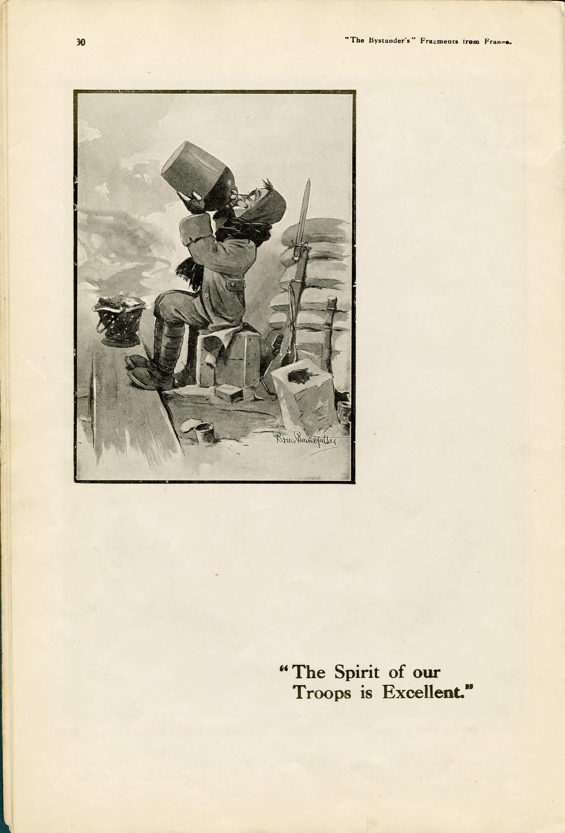 <i>«The Spirit of our Troops is excellent&#160;» (L'esprit de nos troupes est excellent)</i>