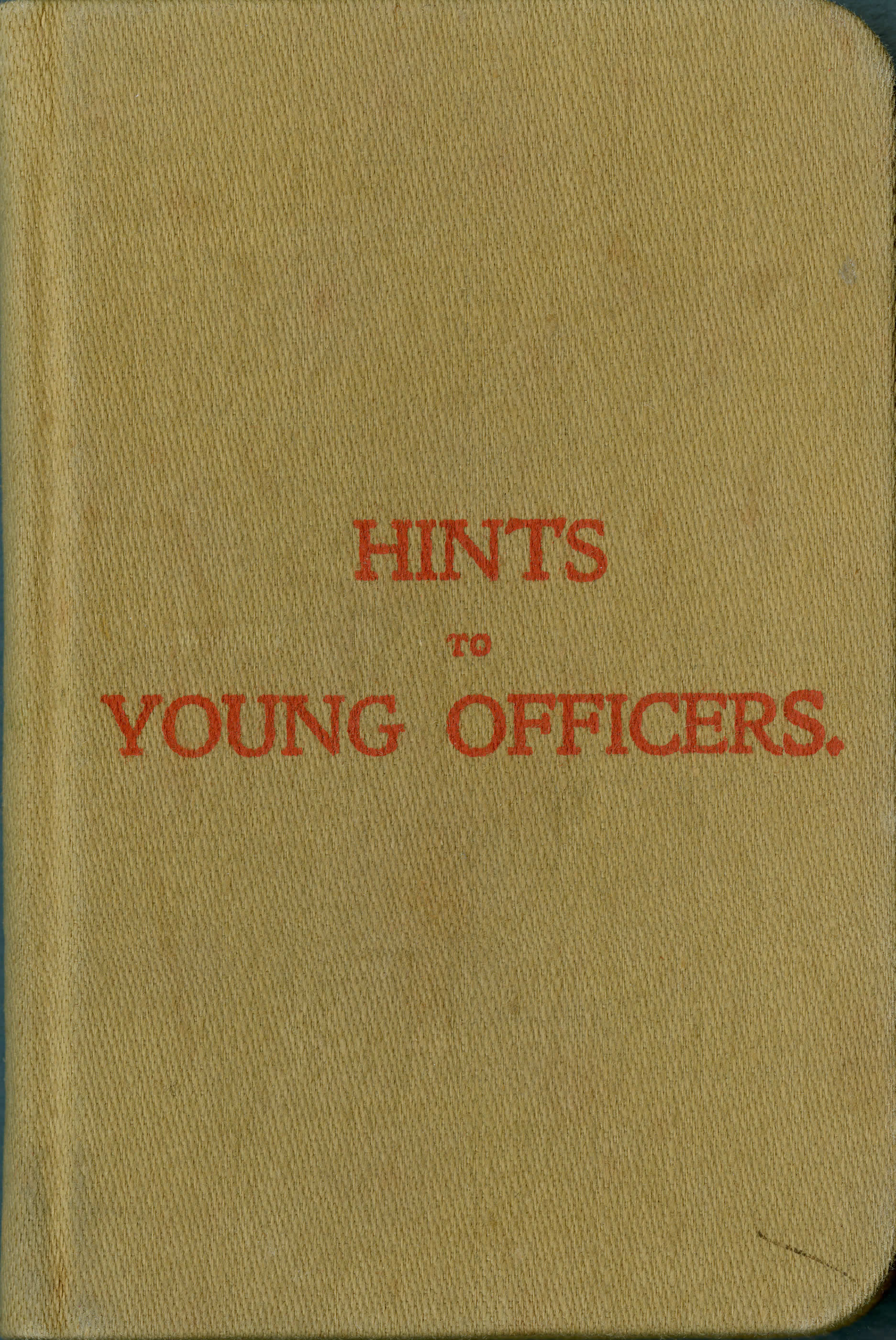 <i>Hints to Young Officers (Conseils aux jeunes officiers)</i>