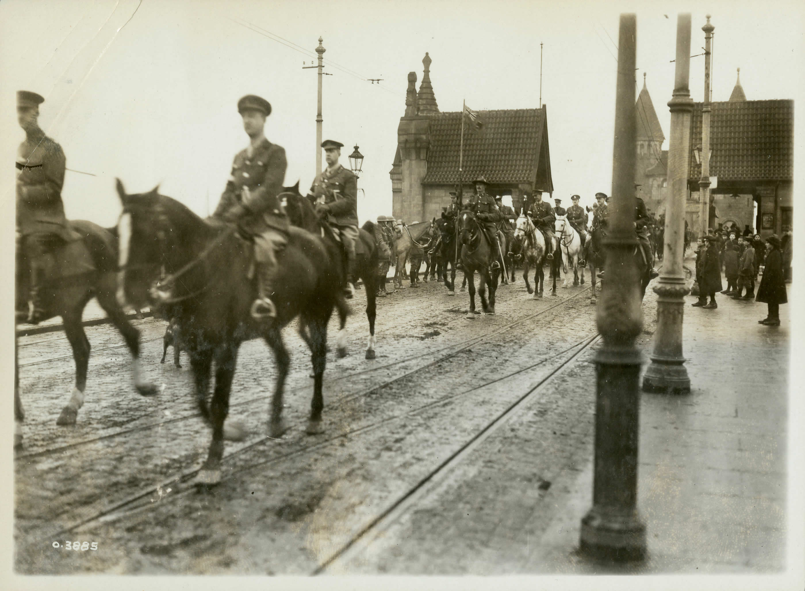 Le général Currie sur le Rhin