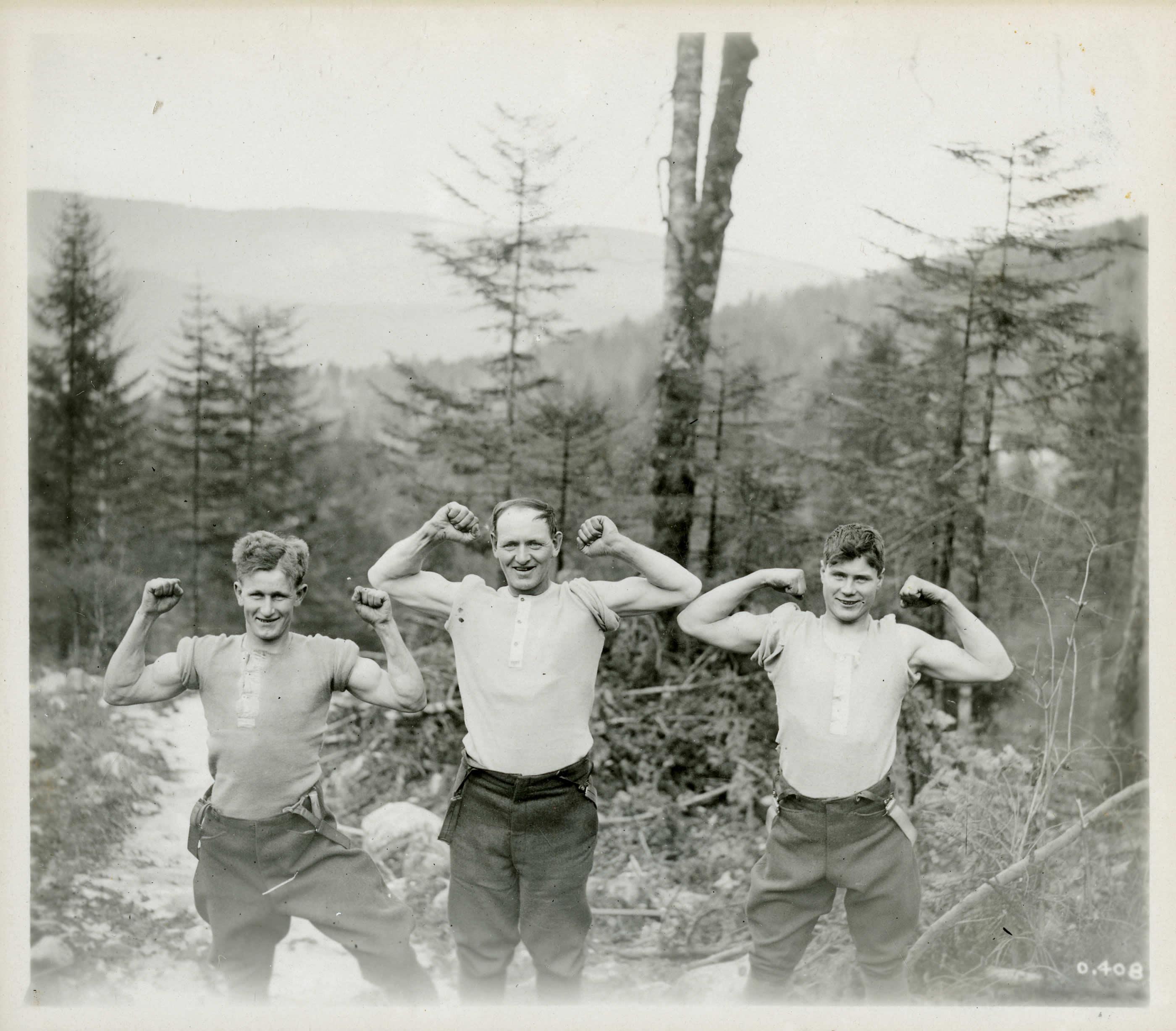 Hommes du Corps forestier