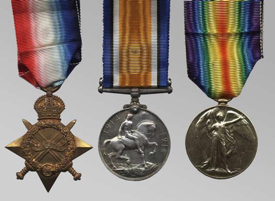 Médailles d'un sapeur-mineur