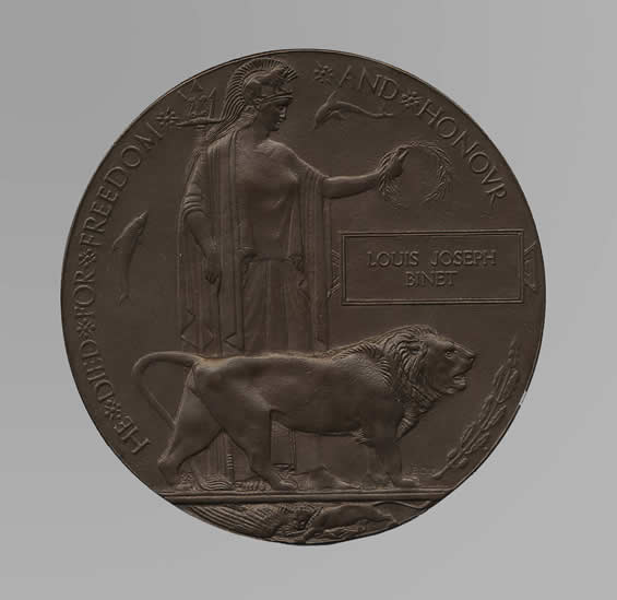 Plaque commémorative de Louis-Joseph Binet