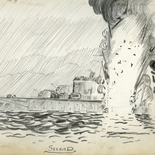 Croquis– Le naufrage du NCSM Athabaskan
