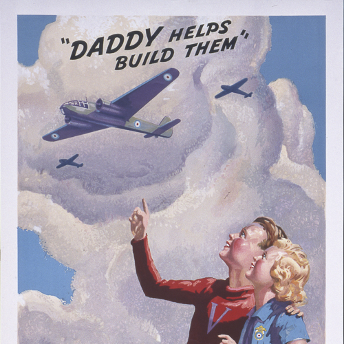 Affiche – Daddy Helps Build Them (Papa aide à les construire)