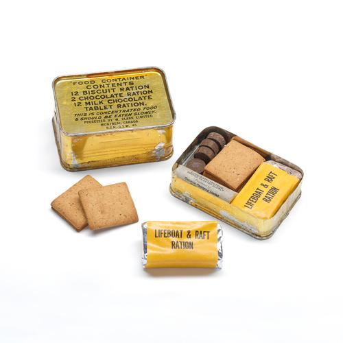 Boîte de ration avec description