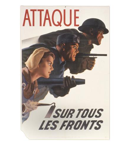 Affiches de propagande avec description