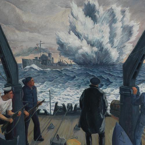 Destruction de mines, peinture de Donald Cameron Mackay