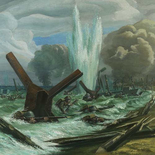 Le jour-J – l'assaut, peinture d'Orville Fisher