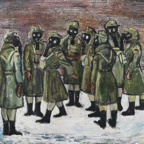 Exercice de survie en cas d'attaque aux gaz, peinture de Molly Lamb Bobak