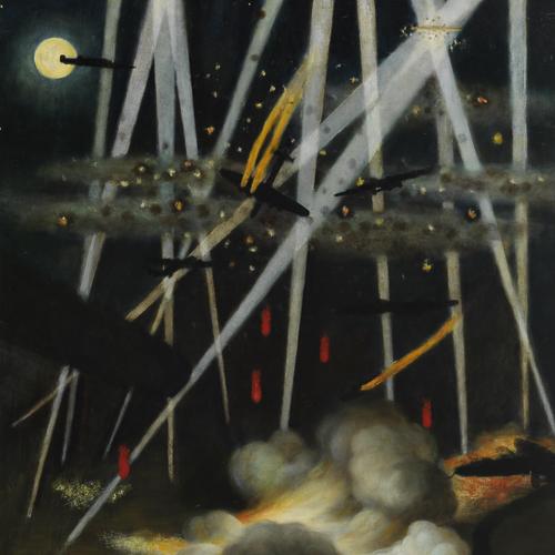 Cible nocturne, Allemagne, peinture de Miller Brittain