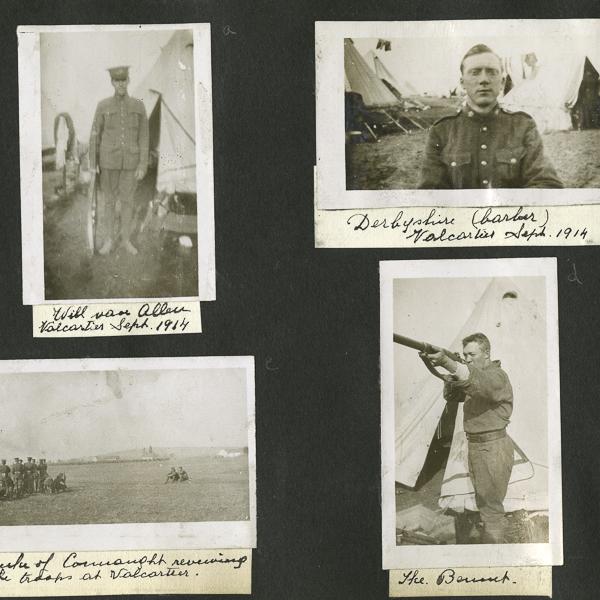 Album photo d'un soldat avec description