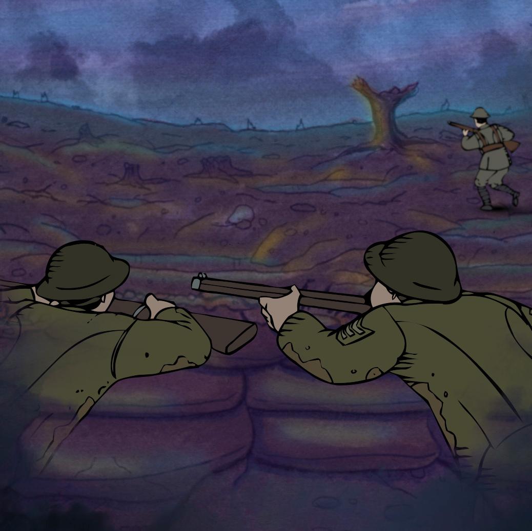 À l'assaut - une aventure interactive qui vous permet de faire l'expérience de la vie dans les tranchées pendant la Première Guerre Mondiale.